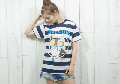 """SAILOR GREMLiNS"" BORDER TEE No_13"