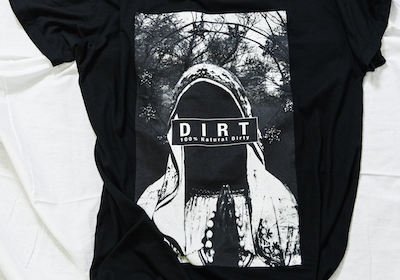 LARGER T-SHIRT TYPE SAINT MARY(BLACK)