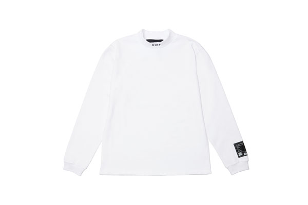2020AW collection High Neck Long Sleeve Shirt WH