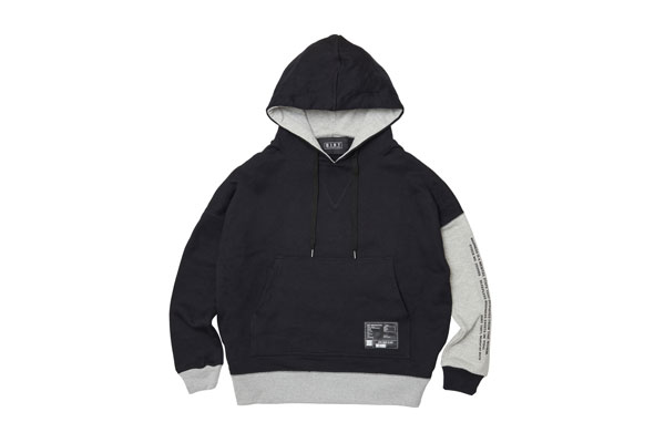 2020AW collection Bicolor Hoodie BL