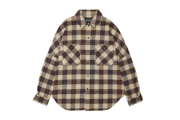 2020AW collection Chenille Yarn Flannel Shirt CAMEL