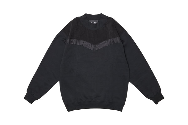 2020AW collection Suede Fringe Sweatshirt BL