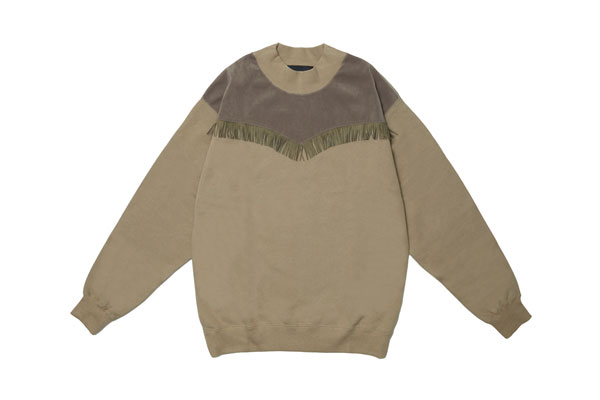 2020AW collection Suede Fringe Sweatshirt KH